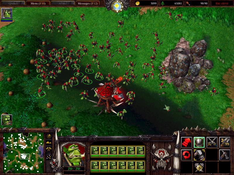 Une attaque massive de Peons.  Screenshot envoyé par StarHunter.