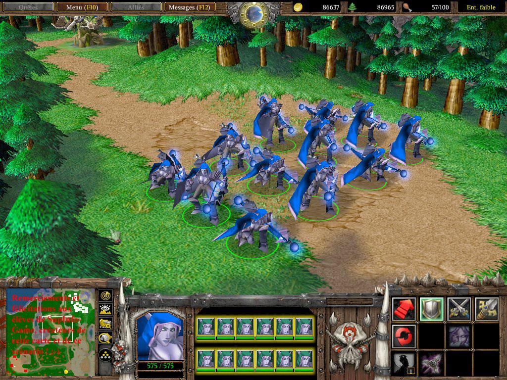 Screenshot du projet SupInfoGame et réalisé par Shadowburner.