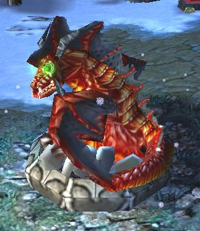 Image d'un nid de dragons vu d'en bas