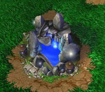 Screenshot d'une Fontaine de vie vue de haut