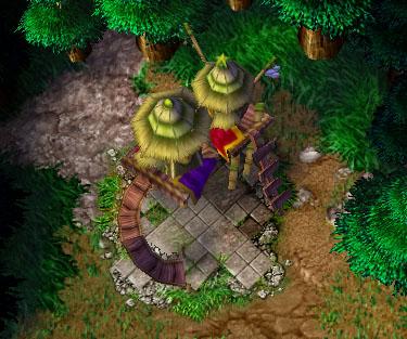Screenshot d'un Goblin Merchant vu de haut