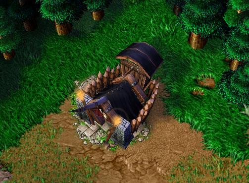 Screenshot d'un Mercenary Camp vu de haut