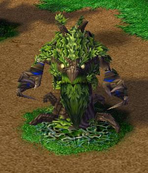 Screenshot de l'Ancient Protector enraciné vu de face