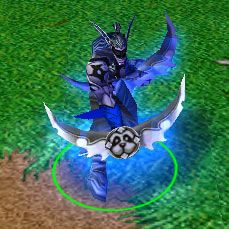 Screenshot du Demon Hunter de face
