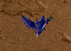 Screenshot du Druid of the Talon sous la forme d'un oiseau vu de haut