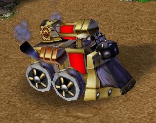 Screenshot du Steam Tank vu de face