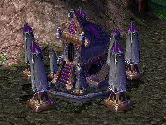 Screenshot du Graveyard vu de face