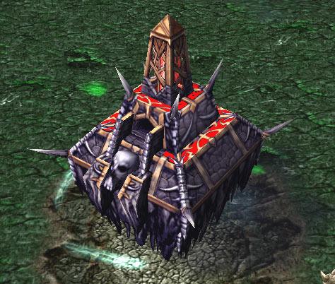 Screenshot du Necropolis vu de face