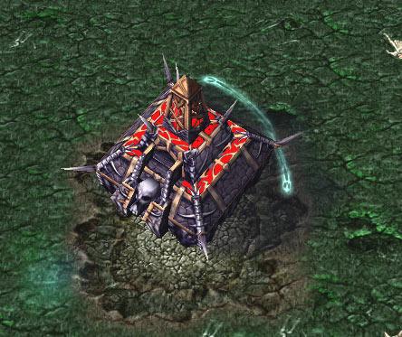 Screenshot du Necropolis vu de haut
