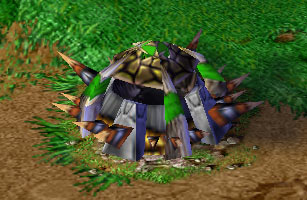 Screenshot de l'Orc Burrow vu de face