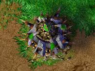 Screenshot de l'Orc Burrow vu de haut