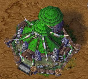 Screenshot du Stronghold vu de haut