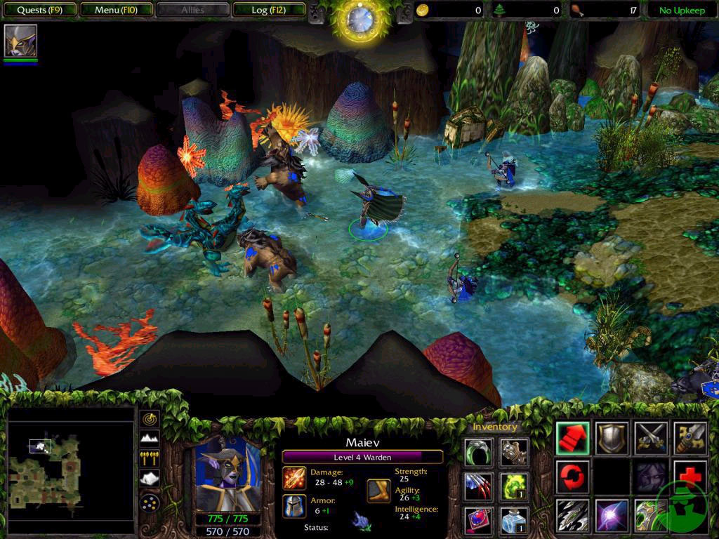 Screenshot de l'extension de Warcraft III (avril 2003)