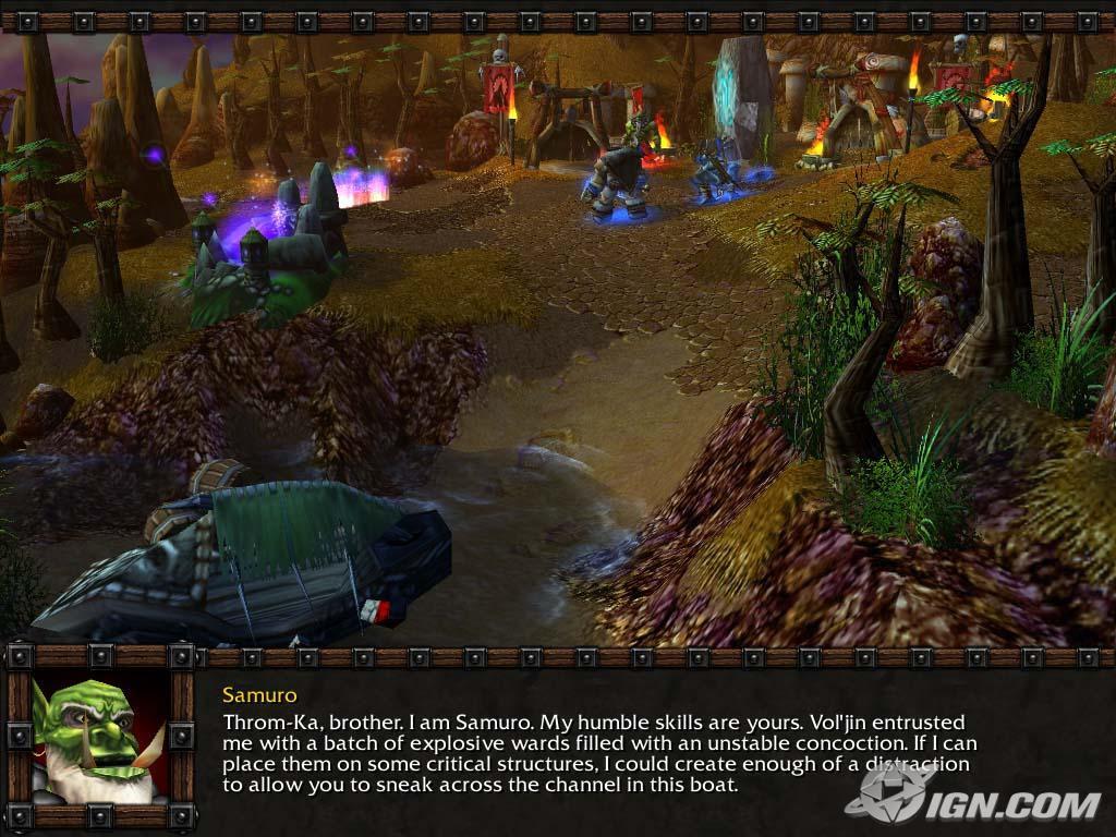 Screenshot de l'extension de Warcraft III (décembre 2003)