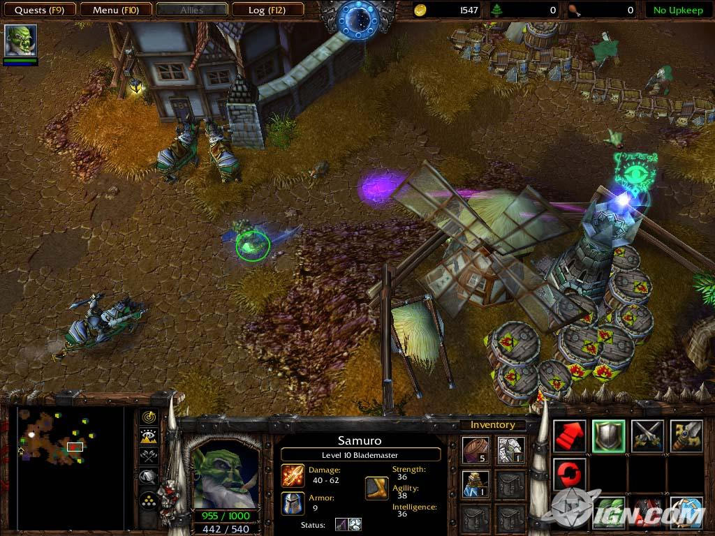 Screenshot de l'extension de Warcraft III (décembre 2003)