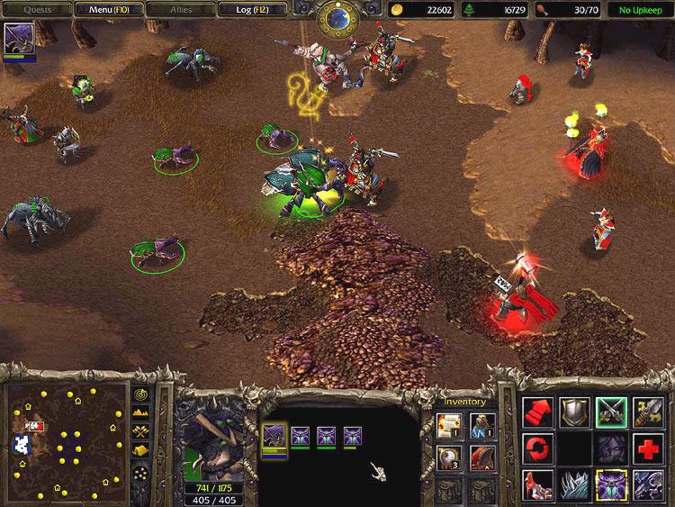 Screenshot de l'extension de Warcraft III (février 2003)