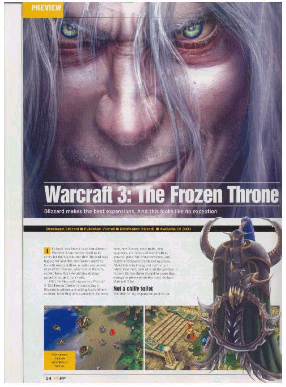 Screenshot de l'extension de Warcraft III (février 2003)