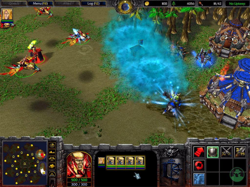 Screenshot de l'extension de Warcraft III (janvier 2003)