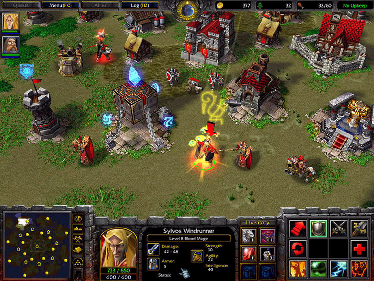 Screenshot de l'extension de Warcraft III (janvier 2003)