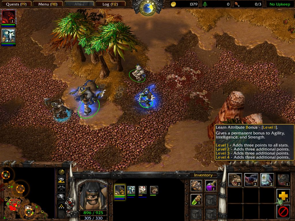 Screenshot de l'extension de Warcraft III (juillet 2003)