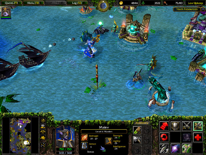 Screenshot de l'extension de Warcraft III (mai 2003)