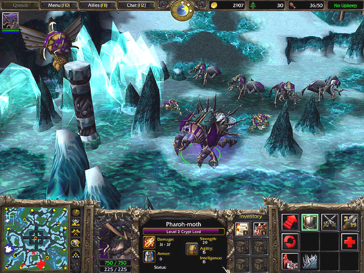 Screenshot de l'extension de Warcraft III (mai 2003)