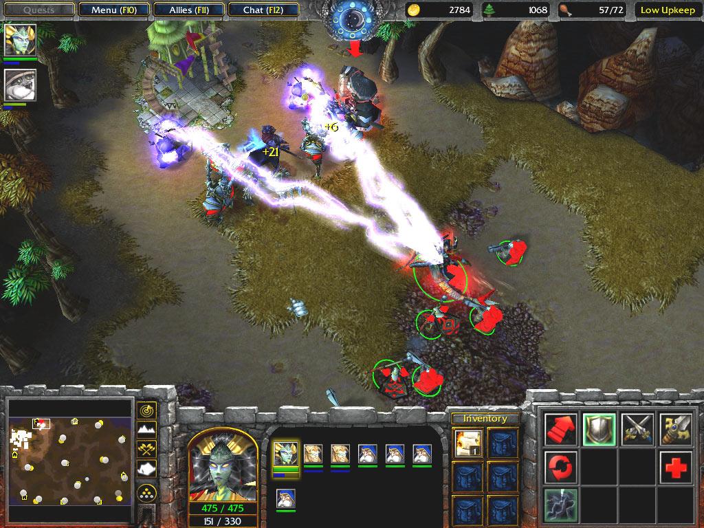 Screenshot de la beta de Frozen Throne.