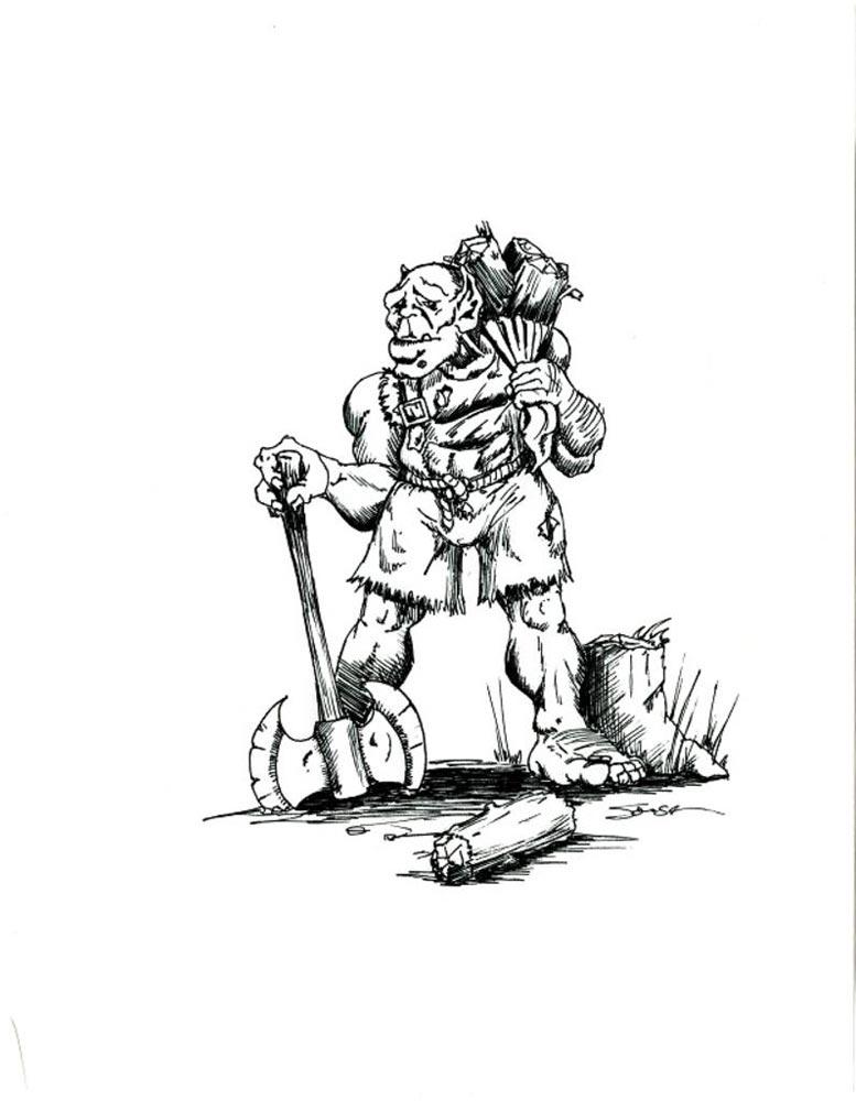 Concept Art de Warcraft: Orcs & Humans.