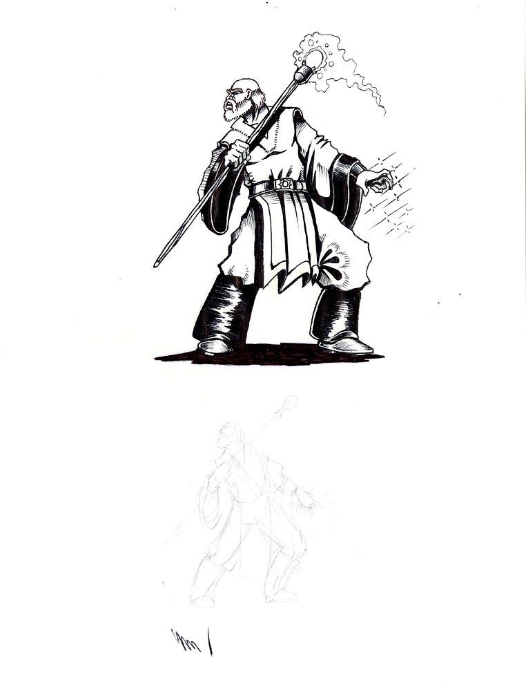 Illustration tirée du développement de Warcraft: Orcs et Humains.