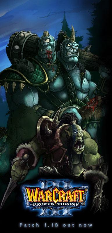 Image de la page d'accueil de Blizzard (mars 2005).