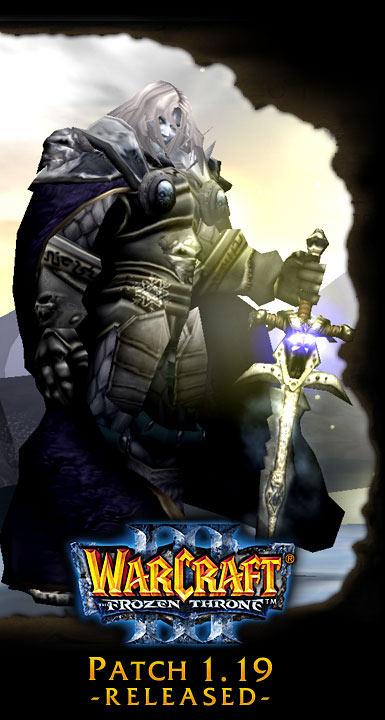 Image de la page d'accueil de Blizzard (septembre 2005).