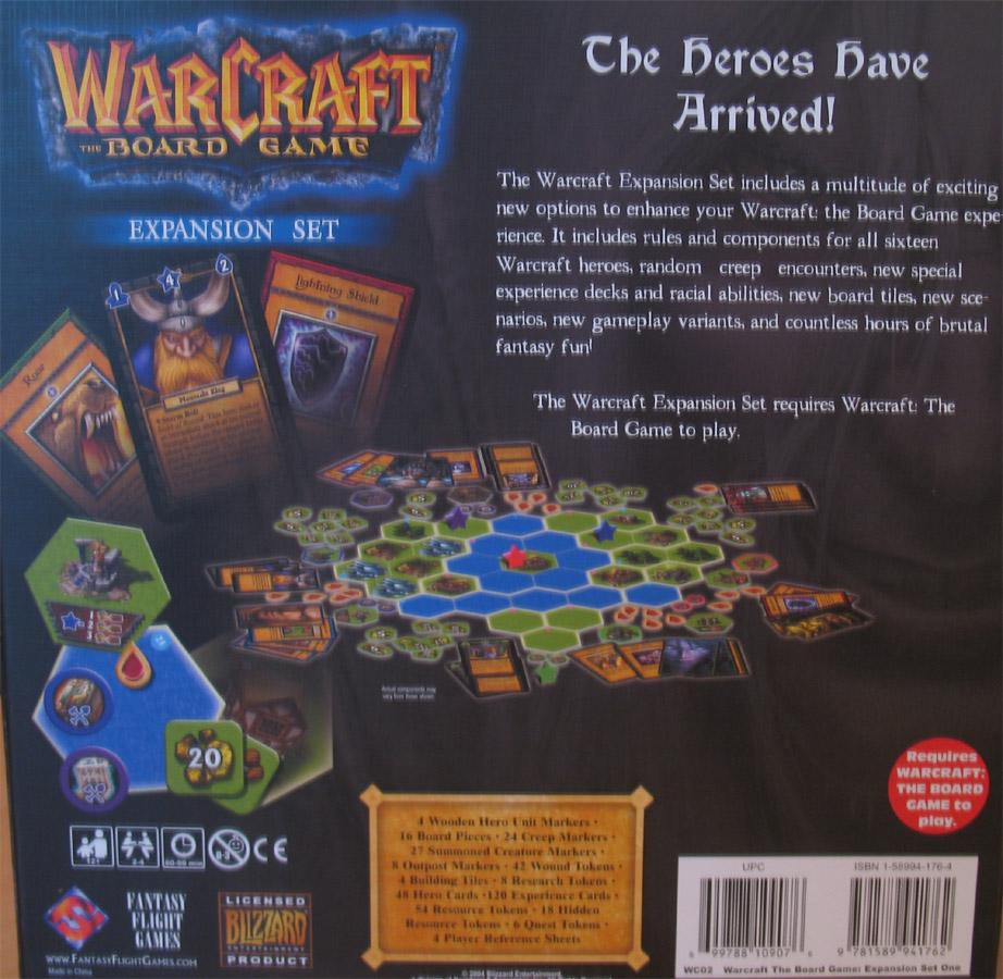 Photo de l'extension Frozen Throne du Boardgame Warcraft 3.