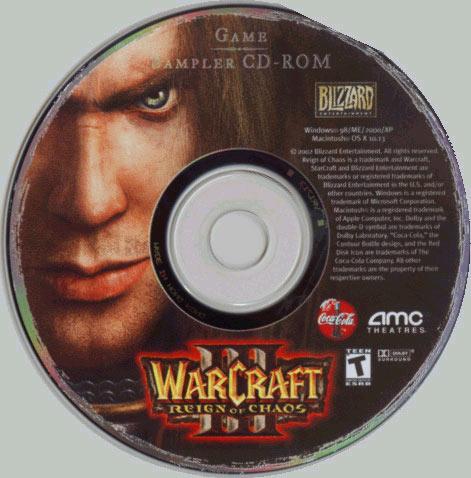Le CD de démo de Warcraft III.