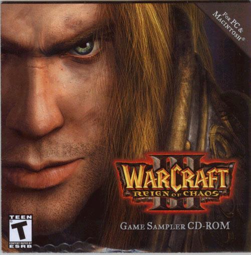 La pochette du CD de la démo de War3 vue de face.