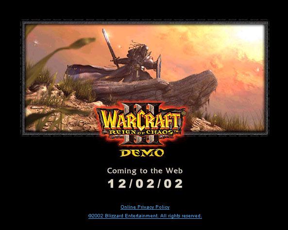Image affichée avant la mise en ligne de la démo sur le site de Blizzard.