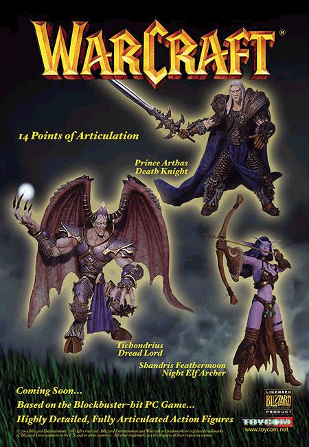 Les figurines Warcraft réalisées par Toycom (image de décembre 2002).