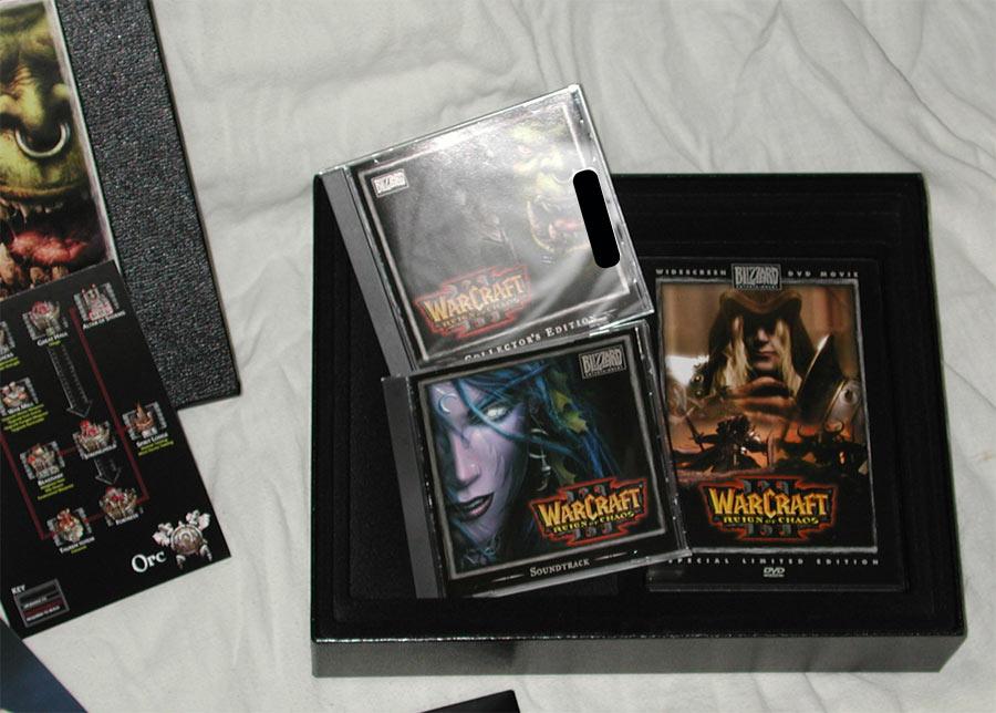 Image de la version Collector de Warcraft III.