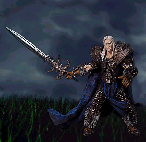 Figurines Arthas, sortie en 2003.