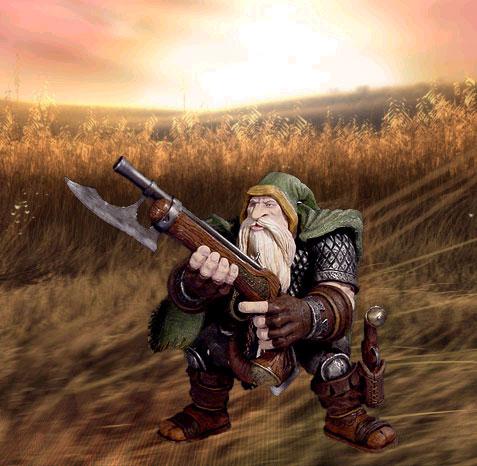 La figurine Dwarf Rifleman, sortie en 2004.