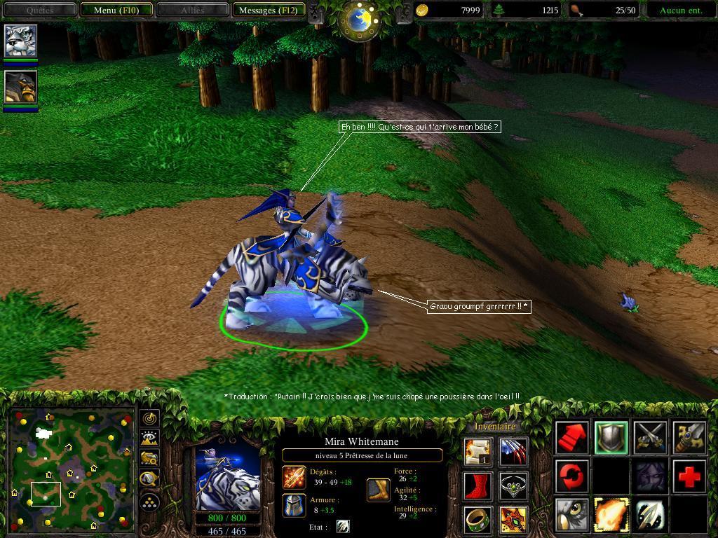 Le tigre de la Prêtresse de la Lune.  Screenshot réalisé par Shadowburner.