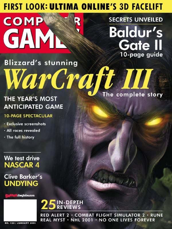 Couverture du Computer Games Magazine (annonce officielle de la 5ème race : les Elfes de la nuit).
