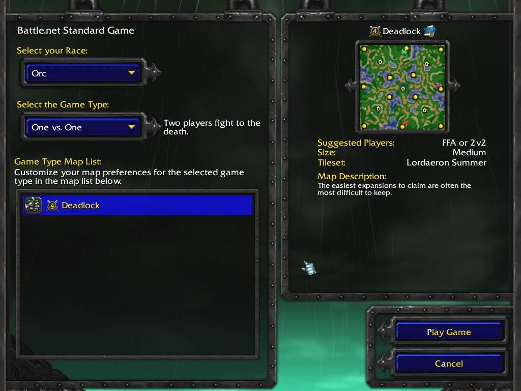 La carte Deadlock, fournie avec la démo