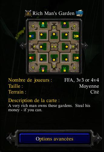 La carte Rich Man's Garden