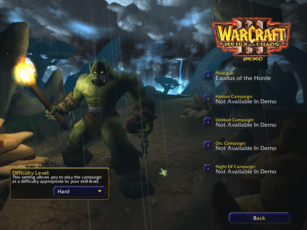 Screenshot de la démo de Warcraft III