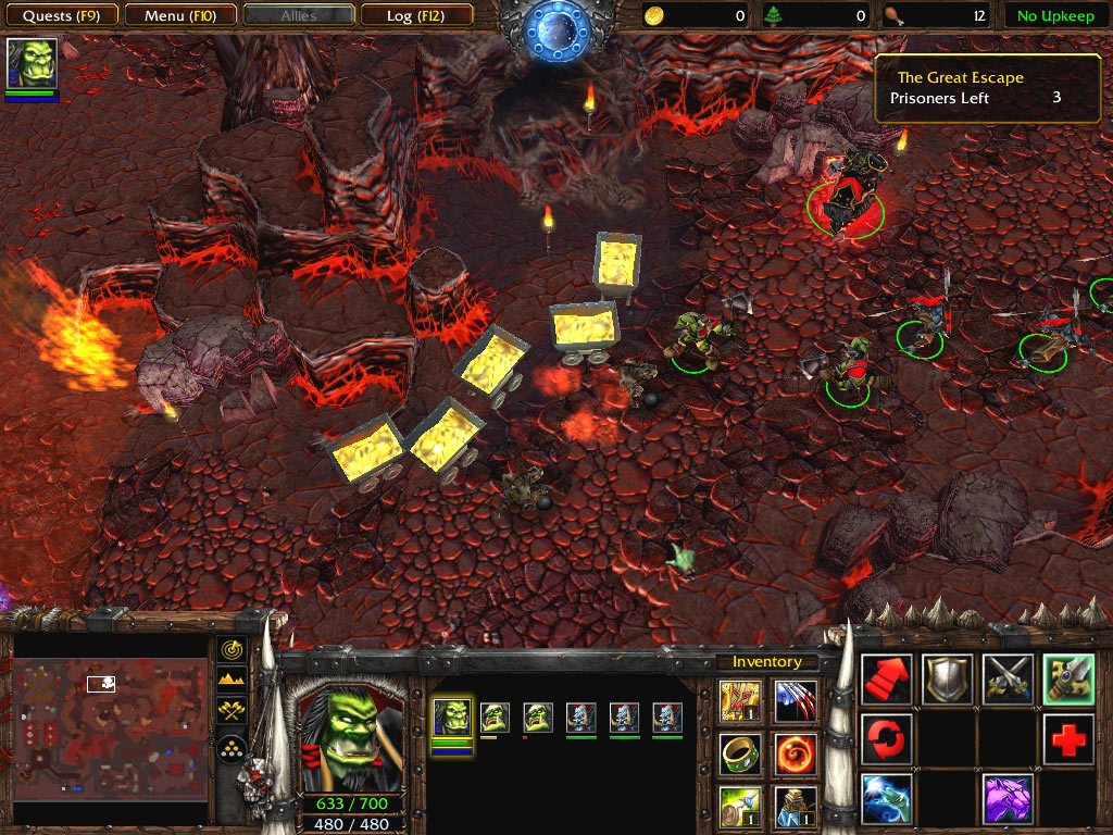 Screenshot de la démo de Warcraft III